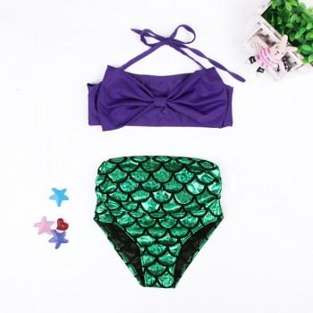 Unique Mermaid Swimming Top and Bottom Set for Girl