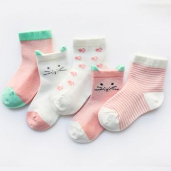5-pack Cute Breathable Socks for Baby