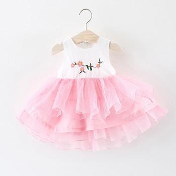 Pretty Floral Print Sleeveless Tutu Dress for Baby and Toddler Girls