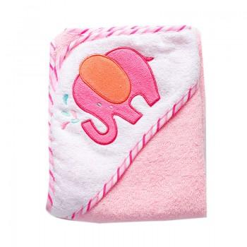 Comfy Animal Applique Cotton Blanket with Hood for Baby