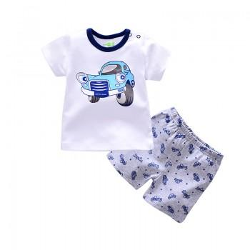 2-piece Car Print Short-sleeve Tee and Pantie for Baby and Toddler Boys