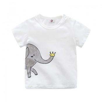 Baby's Short Sleeves Lovely Elephant Tee