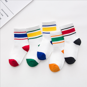 5-pack Lovely Color-blocking Socks for Baby and Toddler