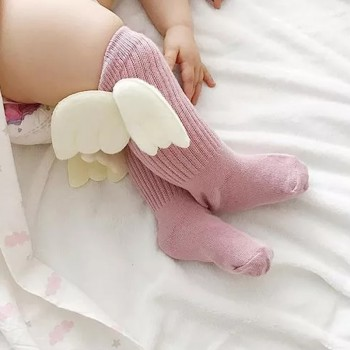 Lovely Solid Wing Decor Stockings for Toddler Girl and Girl