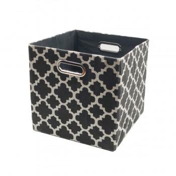 Trendy Collapsible Cloth Storage in Black