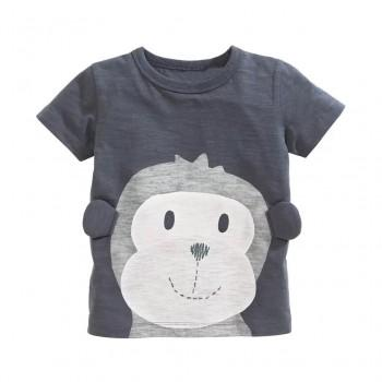 Lovely Monkey Print Short-Sleeve Tee for Boys