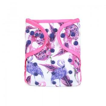 Baby's Resuable Adjustable Washable Flamingo Print Cloth Diaper Cover