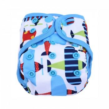 Baby's Resuable Adjustable Washable Plane Pattern Cloth Diaper Cover