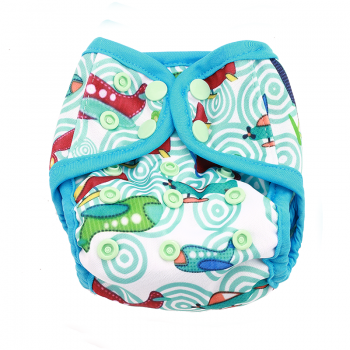 Baby's Resuable Adjustable Washable Whale Pattern Cloth Diaper Cover