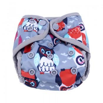 Baby's Resuable Adjustable Washable Owl Pattern Cloth Diaper Cover
