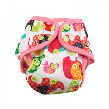Baby's Resuable Adjustable Washable Elephant Pattern Cloth Diaper Cover