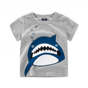 Cool Shark Print Short Sleeves Tee for Boys