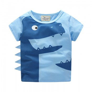 Cool Dinosaur Design Short Sleeves Tee for Boys