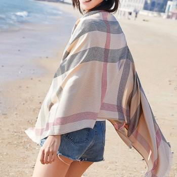Fashionable Striped Sun-proof Beach Gauze Kerchief