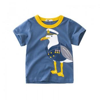 Comfy Seagull Captain Print Top for Boys