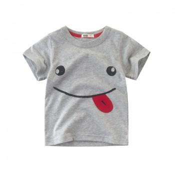 Happy Smile Face Short Sleeves Top for Boys