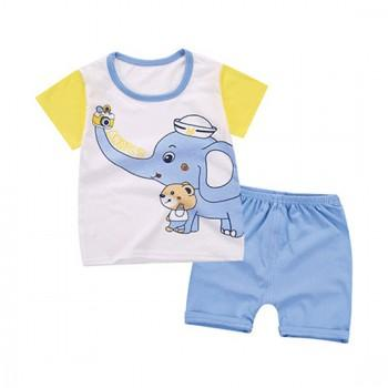 2-piece Lovely Animal Print Short-sleeve Tee and Shorts Set for Toddler