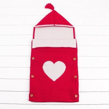Trendy Heart Design Tassel Decor Sleeping Bag for Baby