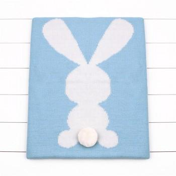 Multifuction Solid Rabbit Knit Blanket