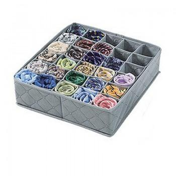Collapsible Cloth Storage Box in Grey