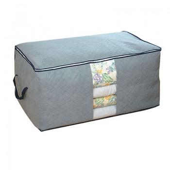 Collapsible Quilt Storage Bag in Grey