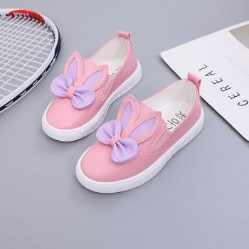 Cute Bow Rabbit Ears Design Slip-on Shoes for Toddler Girl and Girl