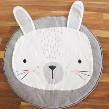 Comfy Cute Rabbit Design Play Mat