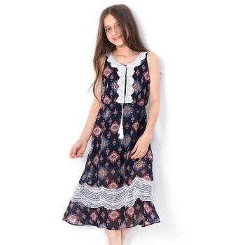 Beautiful Ethnic Style Sleeveless Dress for Girls