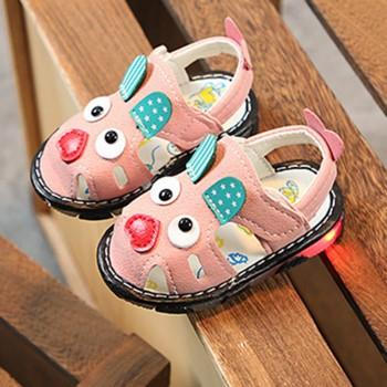 Baby's Rabbit Applique LED Sandals