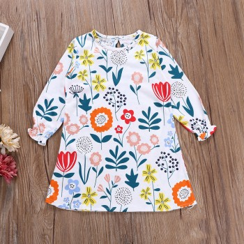 Trendy Patterned Long-sleeve Dress for Toddler Girl and Girl