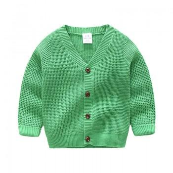 Solid V-neck Knit Cardigan for Baby and Toddlers