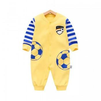 Cool Football Pattern Cotton One-piece for Babies