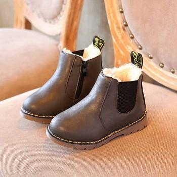 Comfy Fleece-lined Martin Boots for Kids