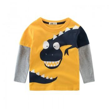 Cool Dinosaur Print Long-sleeve T-shirt for Toddler Boy/Boy