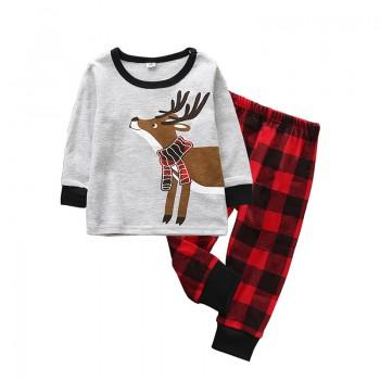 Fashionable Deer Pattern Top and Pants Set for Babies